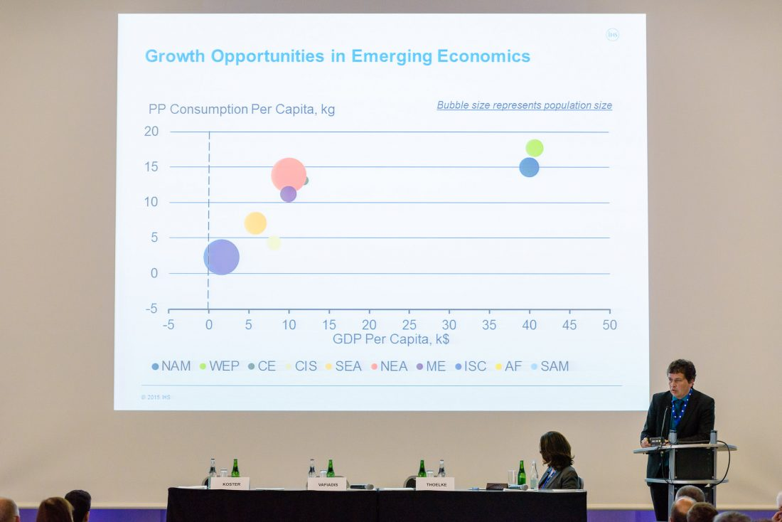 Economy data presentation at conference