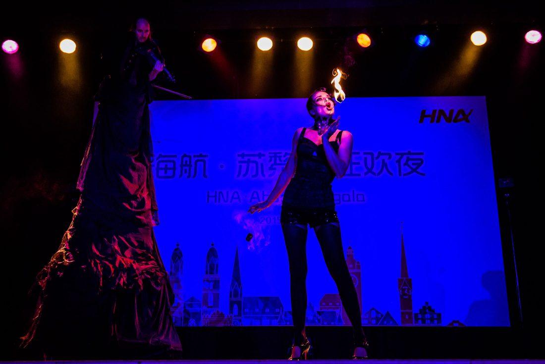 Feuer Performance Aufführung