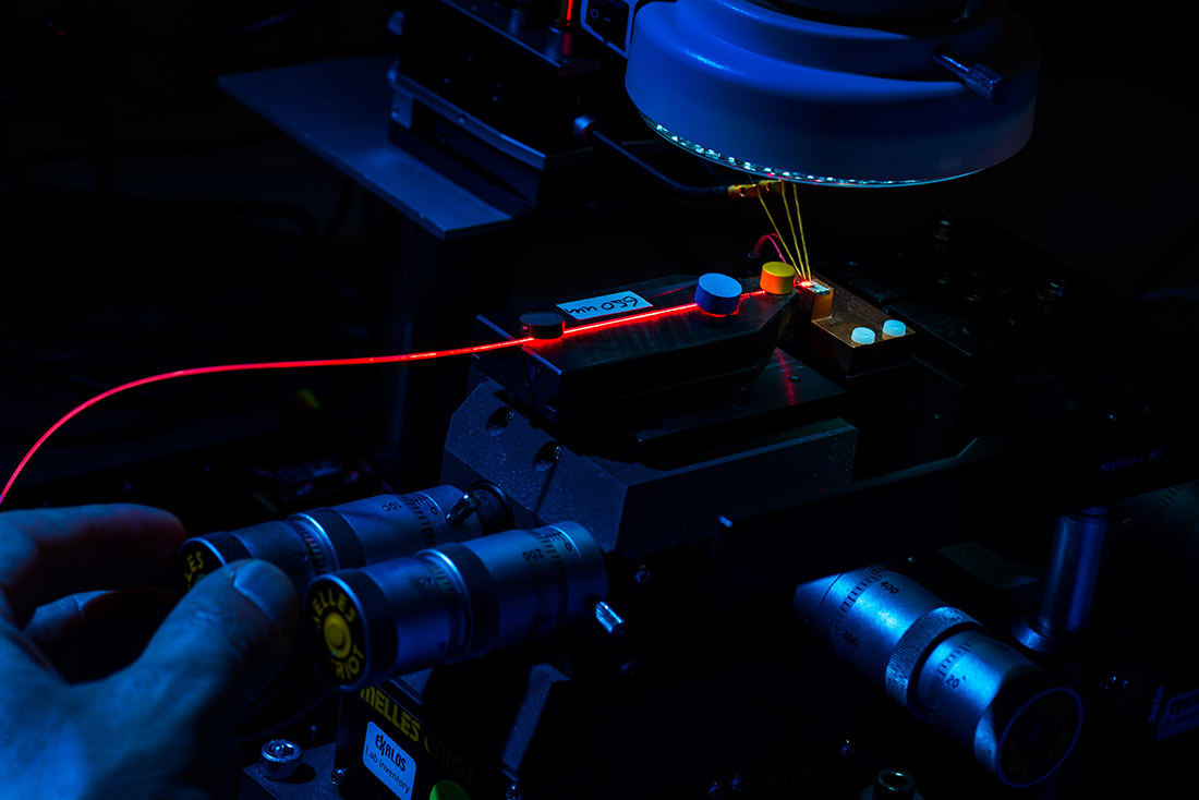 Industrial reportage photography - high-tech microscopy, laser and led technology